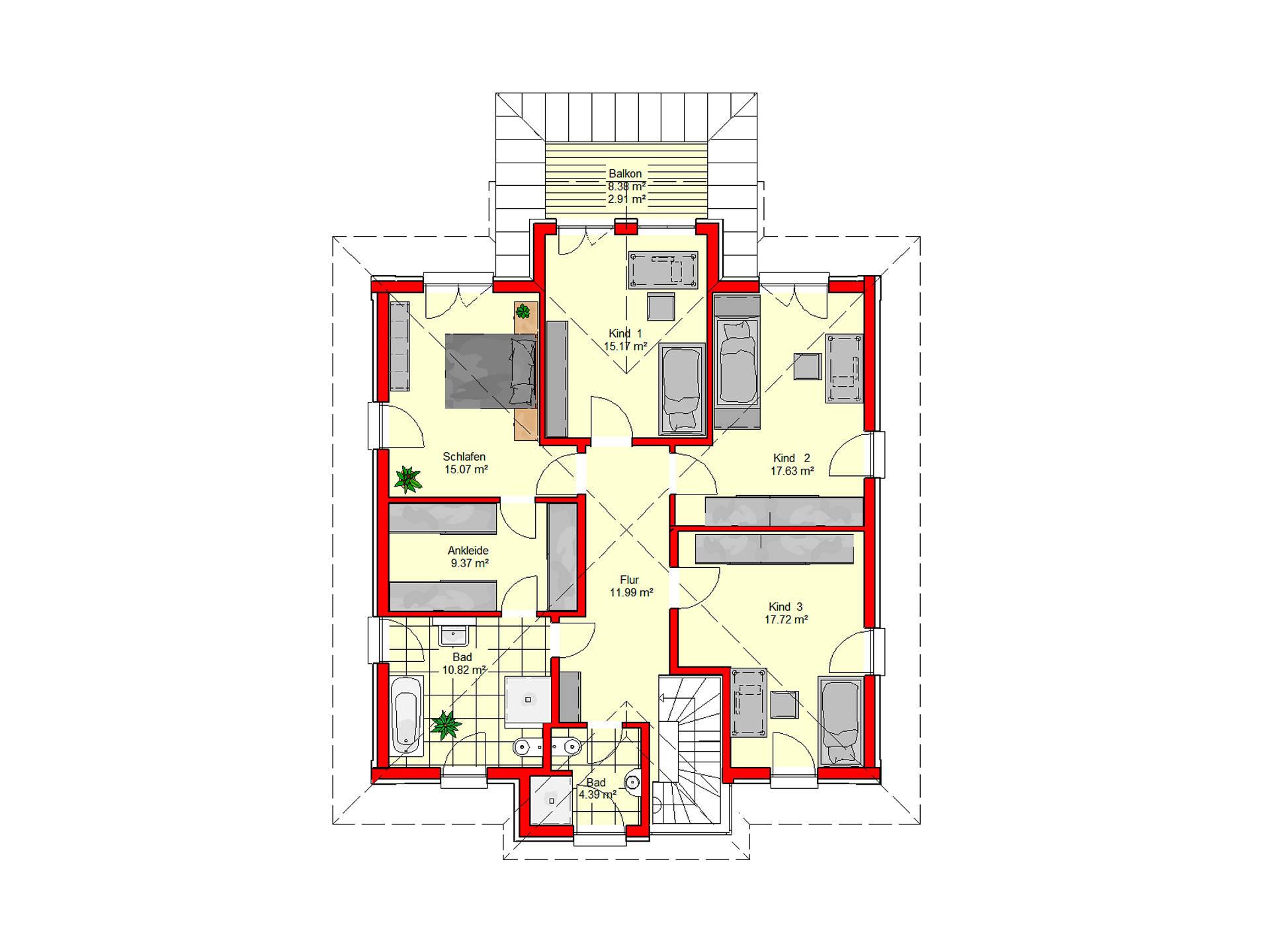 Stadtvilla Königstein 206 von B.I.F.-Konzepte Grundriss DG