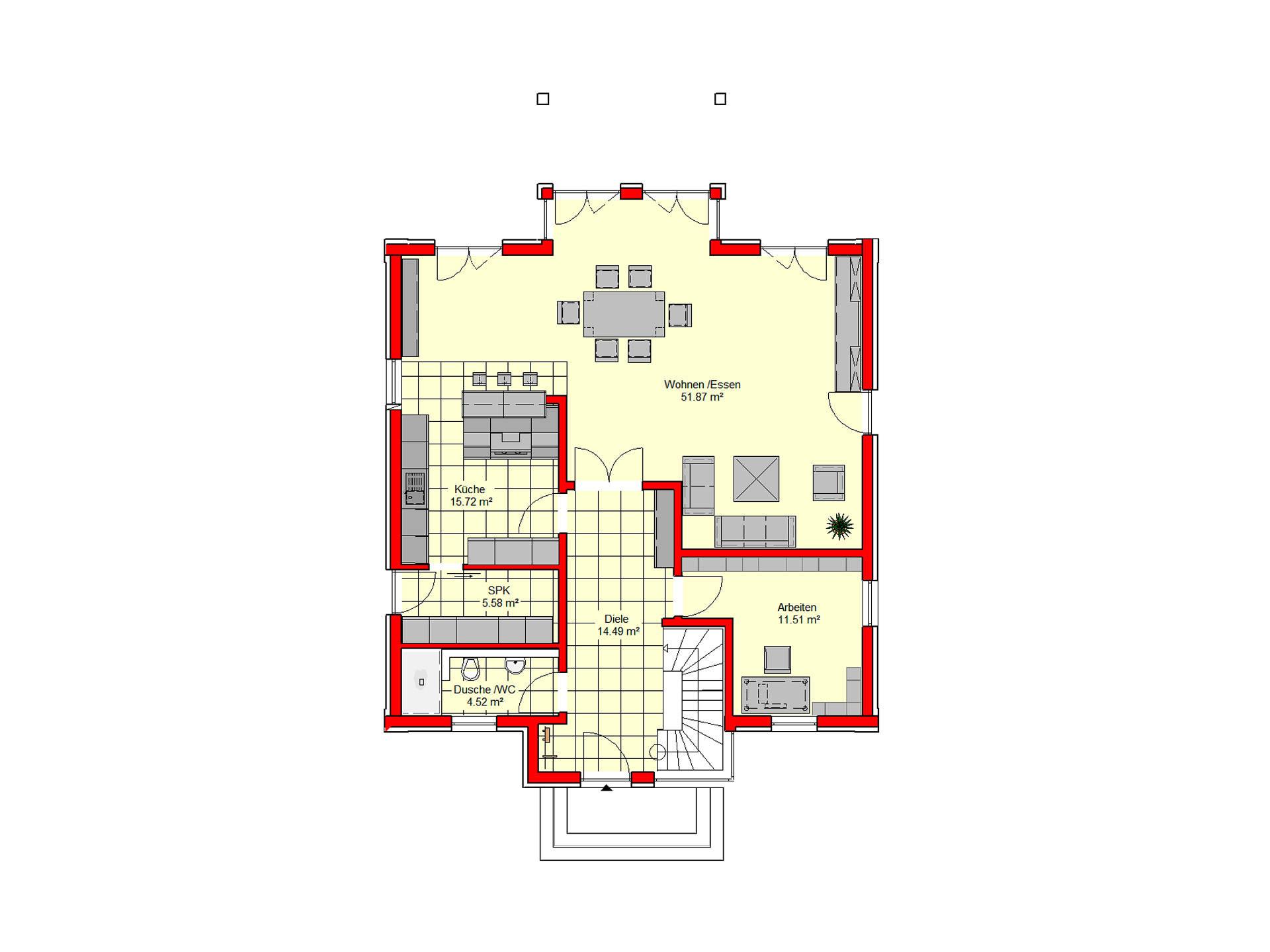 Stadtvilla Königstein 206 von B.I.F.-Konzepte Grundriss EG