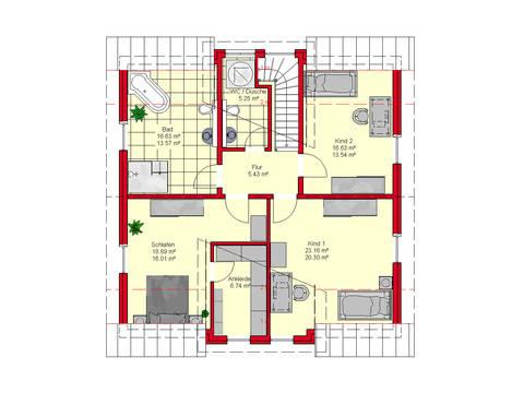 Haus Würzburg 171 von B.I.F.-Konzepte Grundriss DG