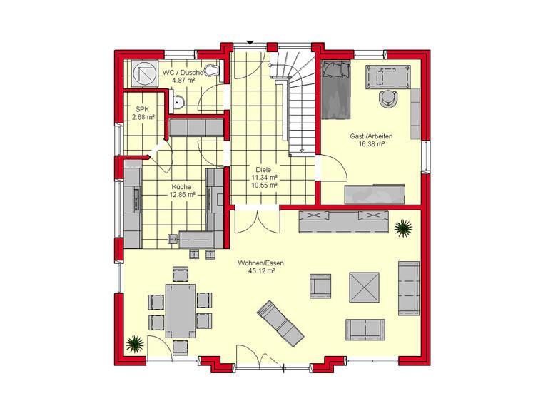 Haus Würzburg 171 von B.I.F.-Konzepte Grundriss EG