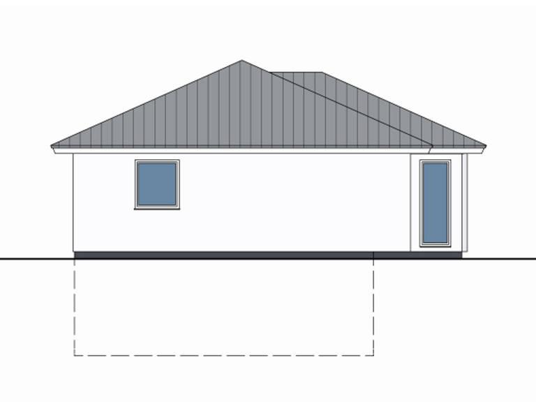 Zeichnung Seite Haus Marlon von W. Leberer Massivbau