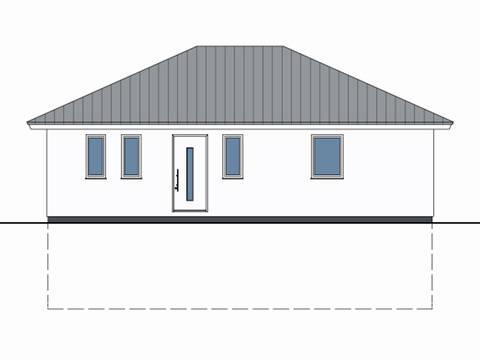 Zeichnung Front Haus Marlon von W. Leberer Massivbau