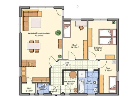 Haus Marlon von W. Leberer Massivbau Grundriss
