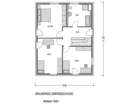 Bauidee Stadtvilla Modern 1000.2 Grundriss