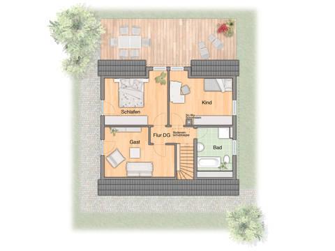 Grundriss Einfamilienhaus Flair 125