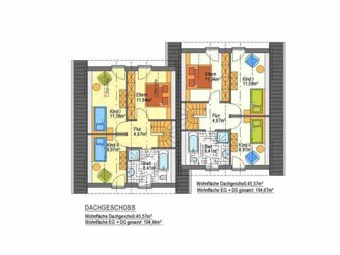Doppelhaus Azalee - ideal-heim-bau Grundriss DG