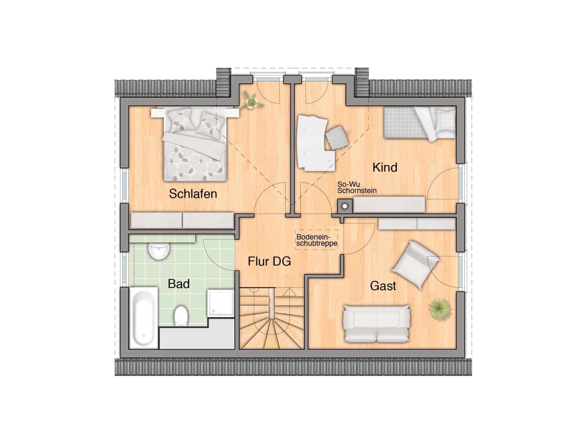 Adira Hausbau Lichthaus 112 Grundriss DG