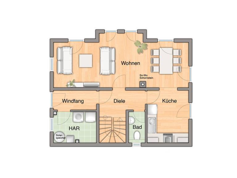 Adira Hausbau Lichthaus 112 Grundriss EG