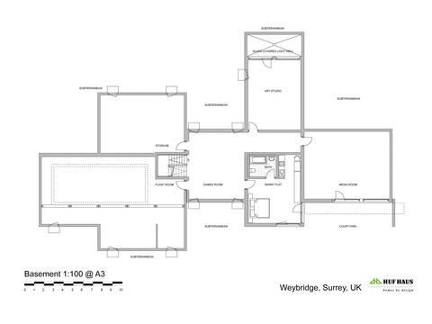HUF Haus ART Sonder - Grundriss KG