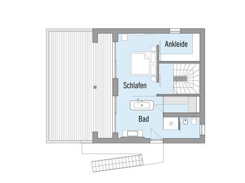 Baufritz Musterhaus Haus am See Grundriss OG