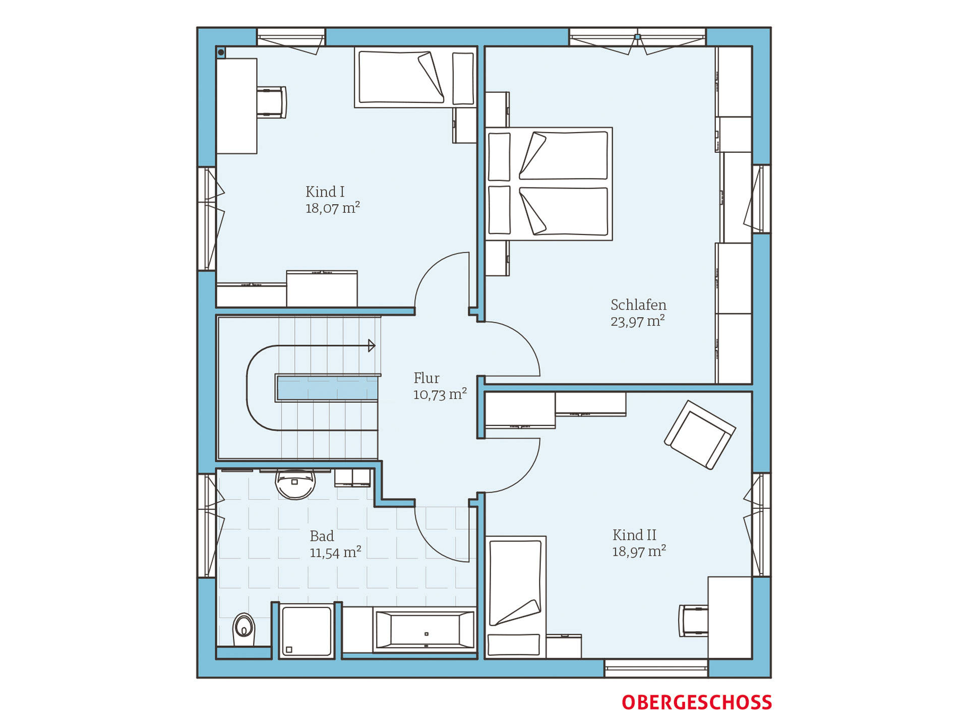 Hanse Haus Cubus 162 Grundriss OG
