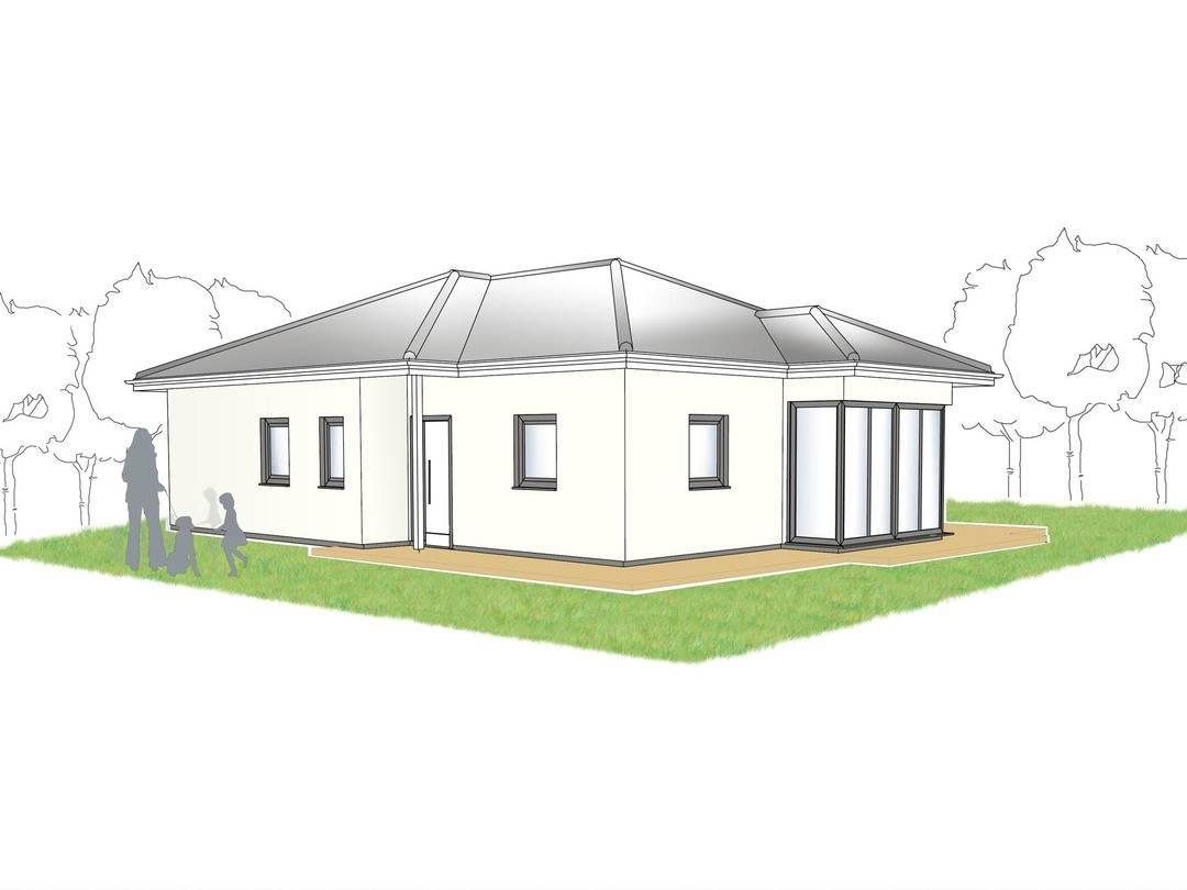 Bungalow Campus 100 Zeichnung von Partner-Haus