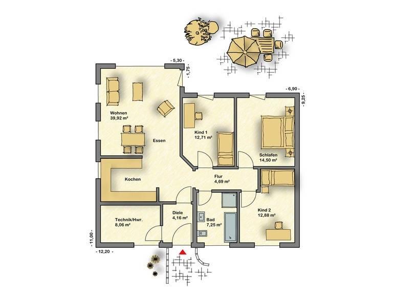 Bungalow Campus 100 Grundriss von Partner-Haus