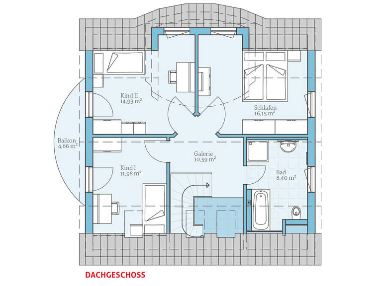 Hanse Haus Variant 143 Grundriss DG