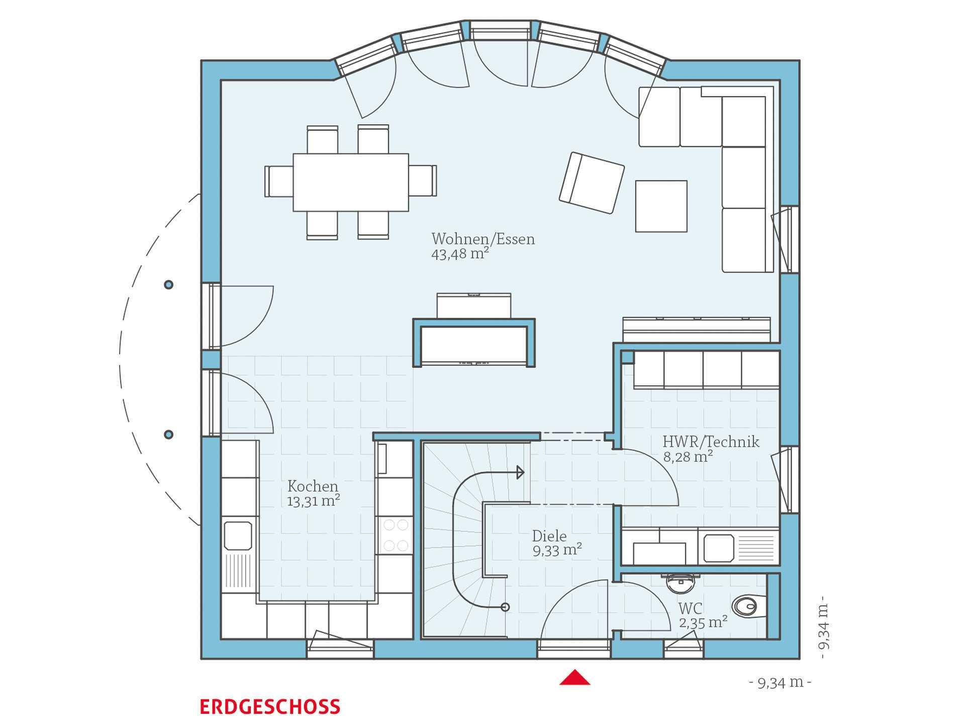 Hanse Haus Variant 143 Grundriss EG