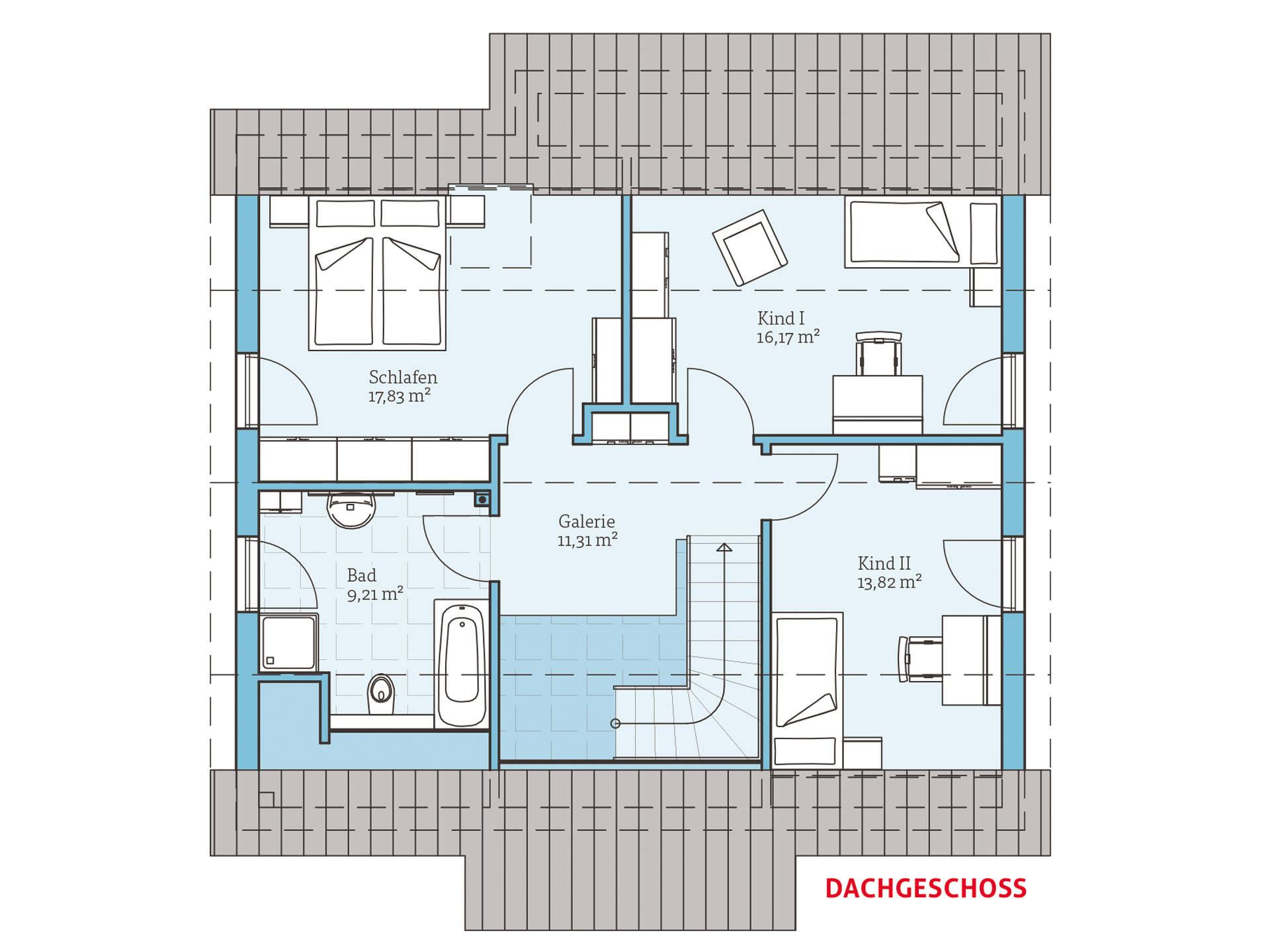Hanse Haus Variant 156 Grundriss OG