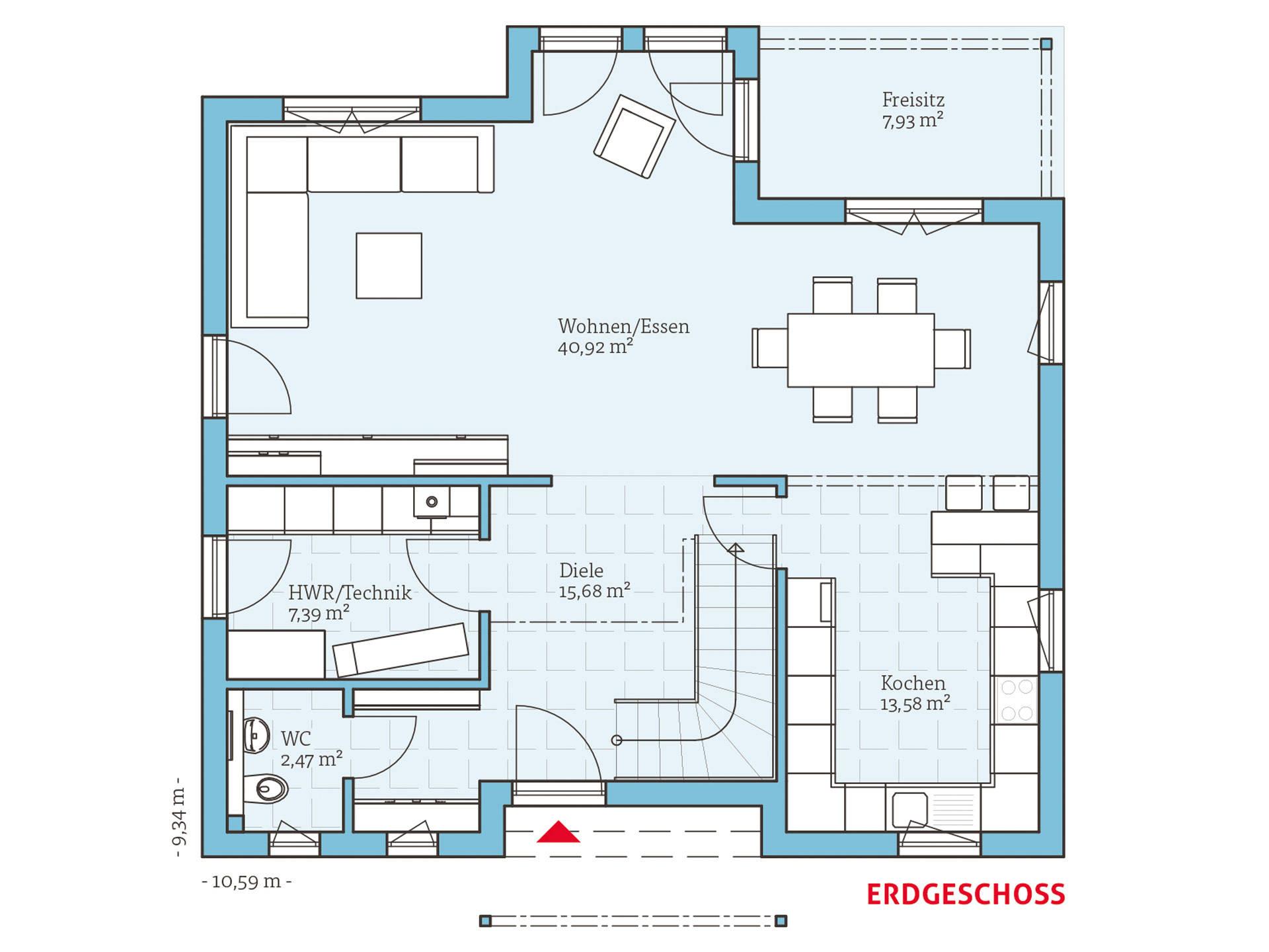 Hanse Haus Variant 156 Grundriss EG