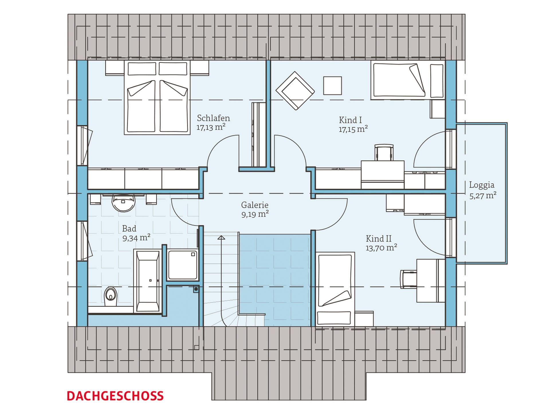 Hanse Haus Variant 162 Grundriss OG