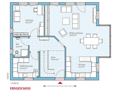 Hanse Haus Variant 162 Grundriss EG