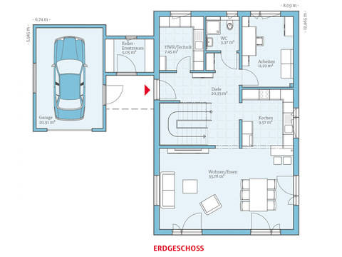Hanse Haus Variant 169 Grundriss EG