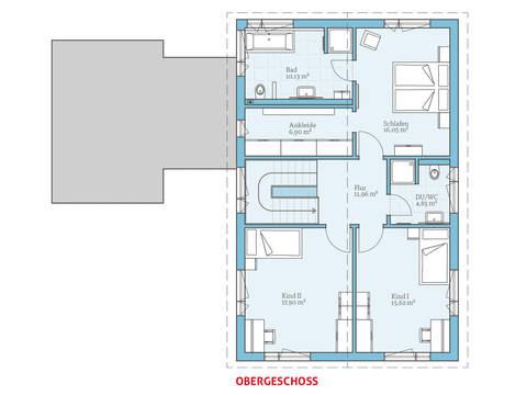 Hanse Haus Variant 169 Grundriss OG