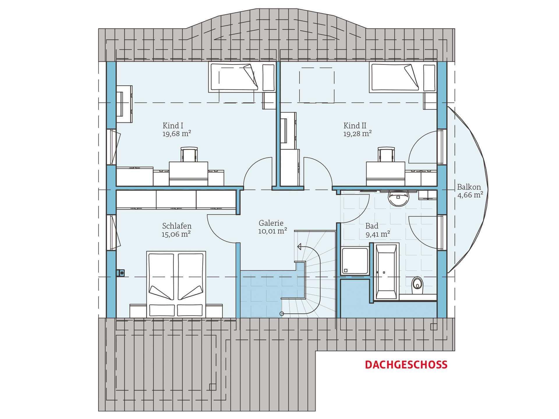 Hanse Haus Variant 170 Grundriss OG