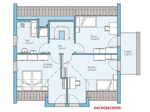 Hanse Haus Variant 172 Grundriss OG