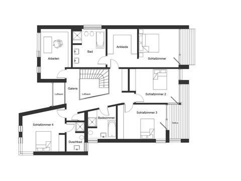 Bauhaus Jackson Grundriss DG von Baufritz