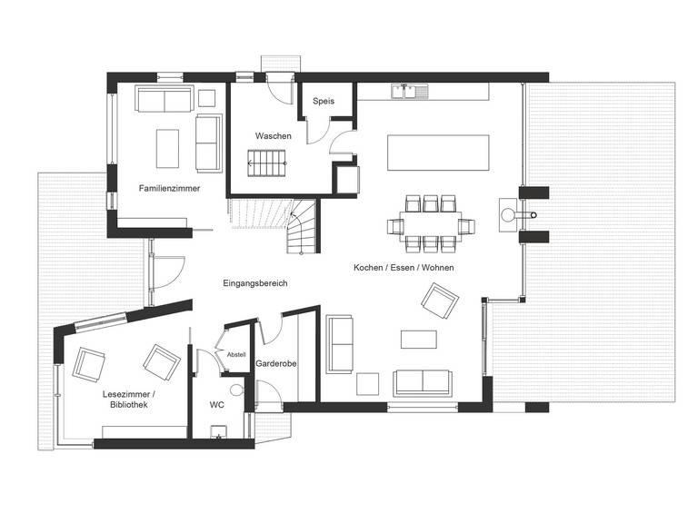 Bauhaus Jackson Grundriss EG von Baufritz