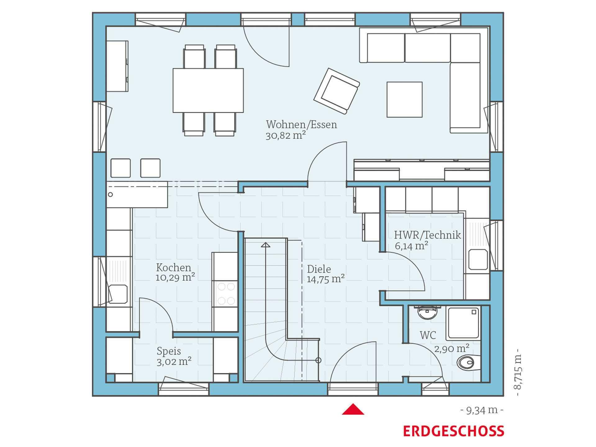 Hanse Haus Variant 25-135 Grundriss EG