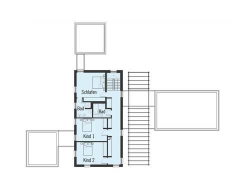 Bauhaus Russel Grundriss DG von Baufritz