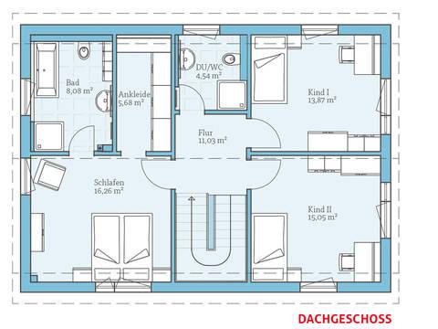 Hanse Haus Variant 25-150 Grundriss OG
