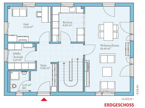 Hanse Haus Variant 25-150 Grundriss EG