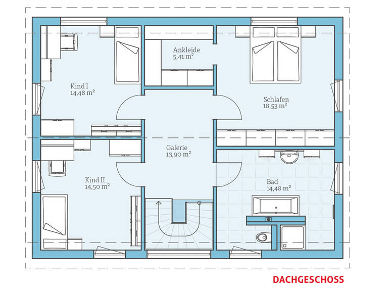 Hanse Haus Variant 25-165 Grundriss OG