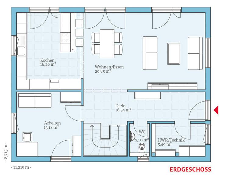 Hanse Haus Variant 25-165 Grundriss EG