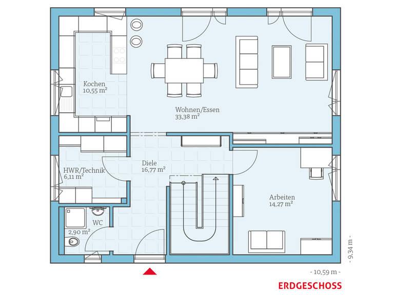 Hanse Haus Variant 25-166 Grundriss EG