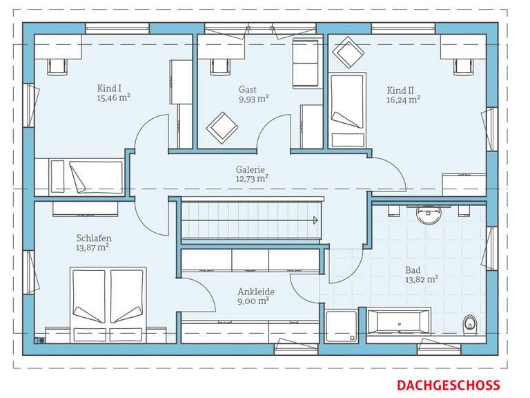 Hanse Haus Variant 25-183 Grundriss OG