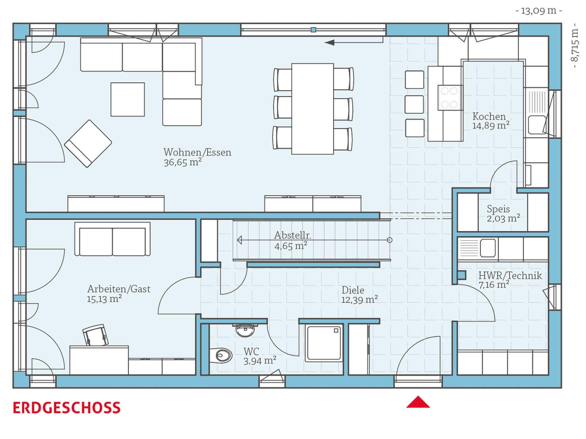 Variant 25 192 hanse haus for Hausplan modern