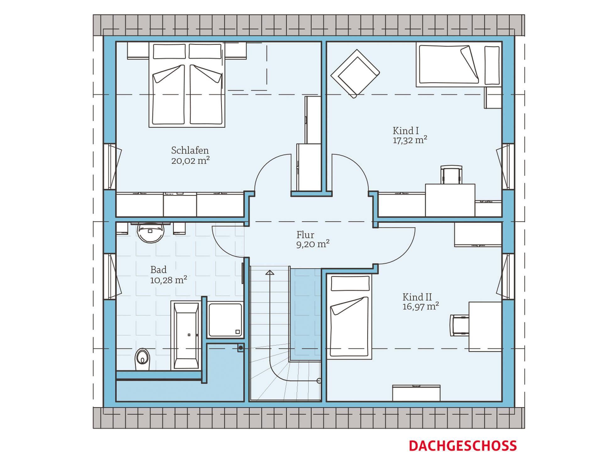 Hanse Haus Variant 35-153 Grundriss OG