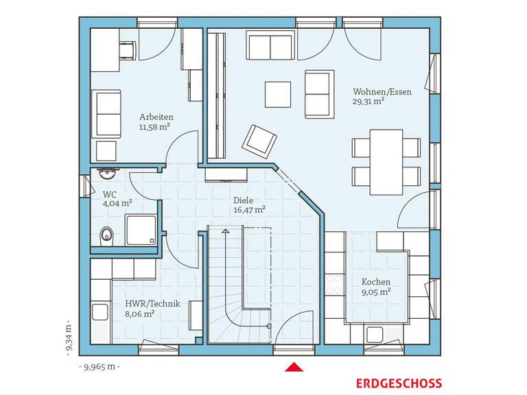 Hanse Haus Variant 35-153 Grundriss EG