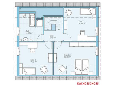 Hanse Haus Variant 35-162 Grundriss OG