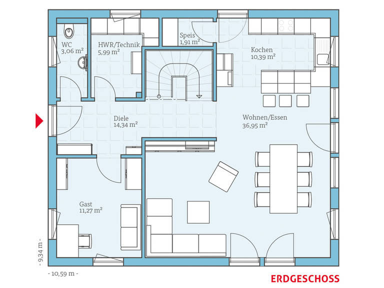 Hanse Haus Variant 35-162 Grundriss EG