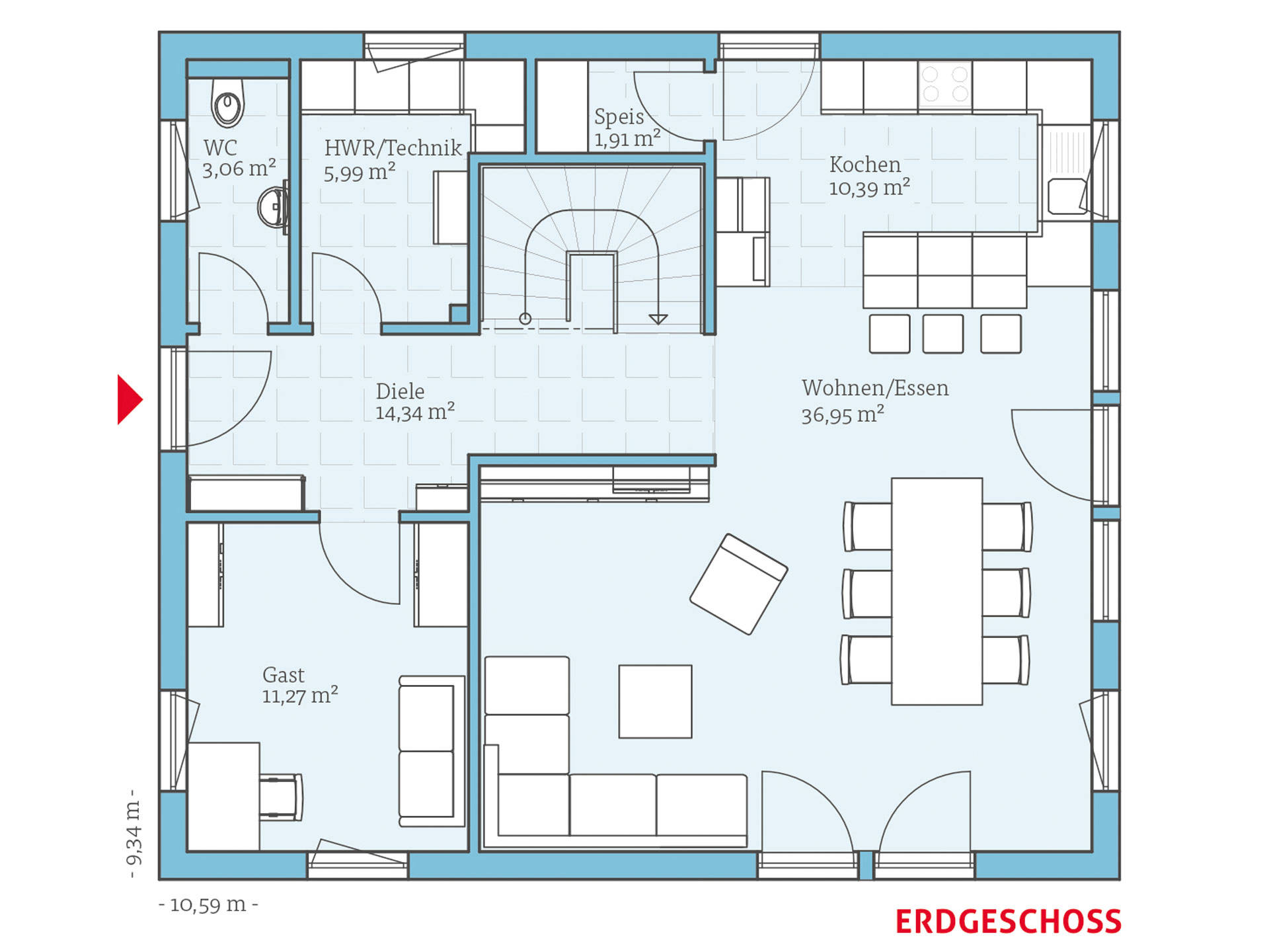 variant 35 162 hanse haus. Black Bedroom Furniture Sets. Home Design Ideas