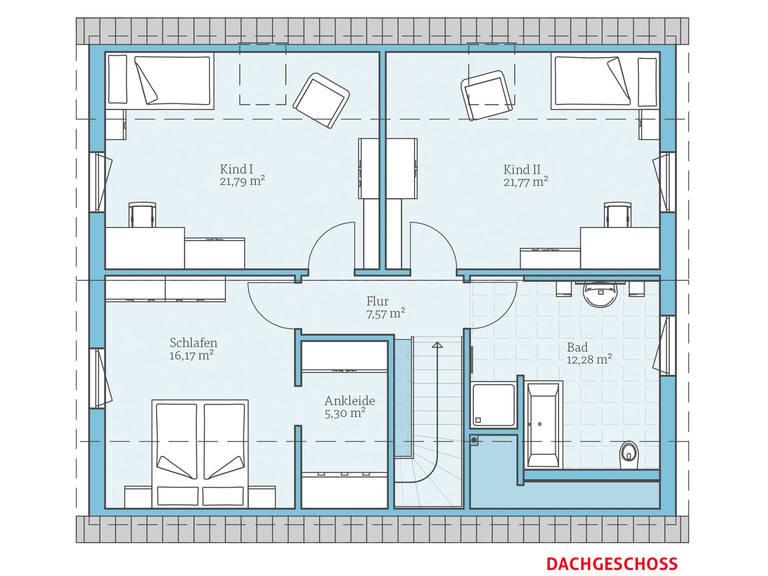 Hanse Haus Variant 35-173 Grundriss OG