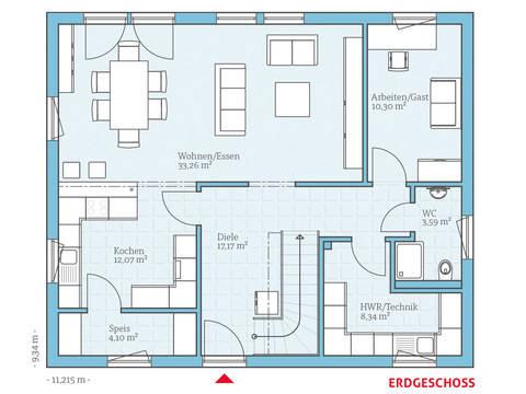 Hanse Haus Variant 35-173 Grundriss EG