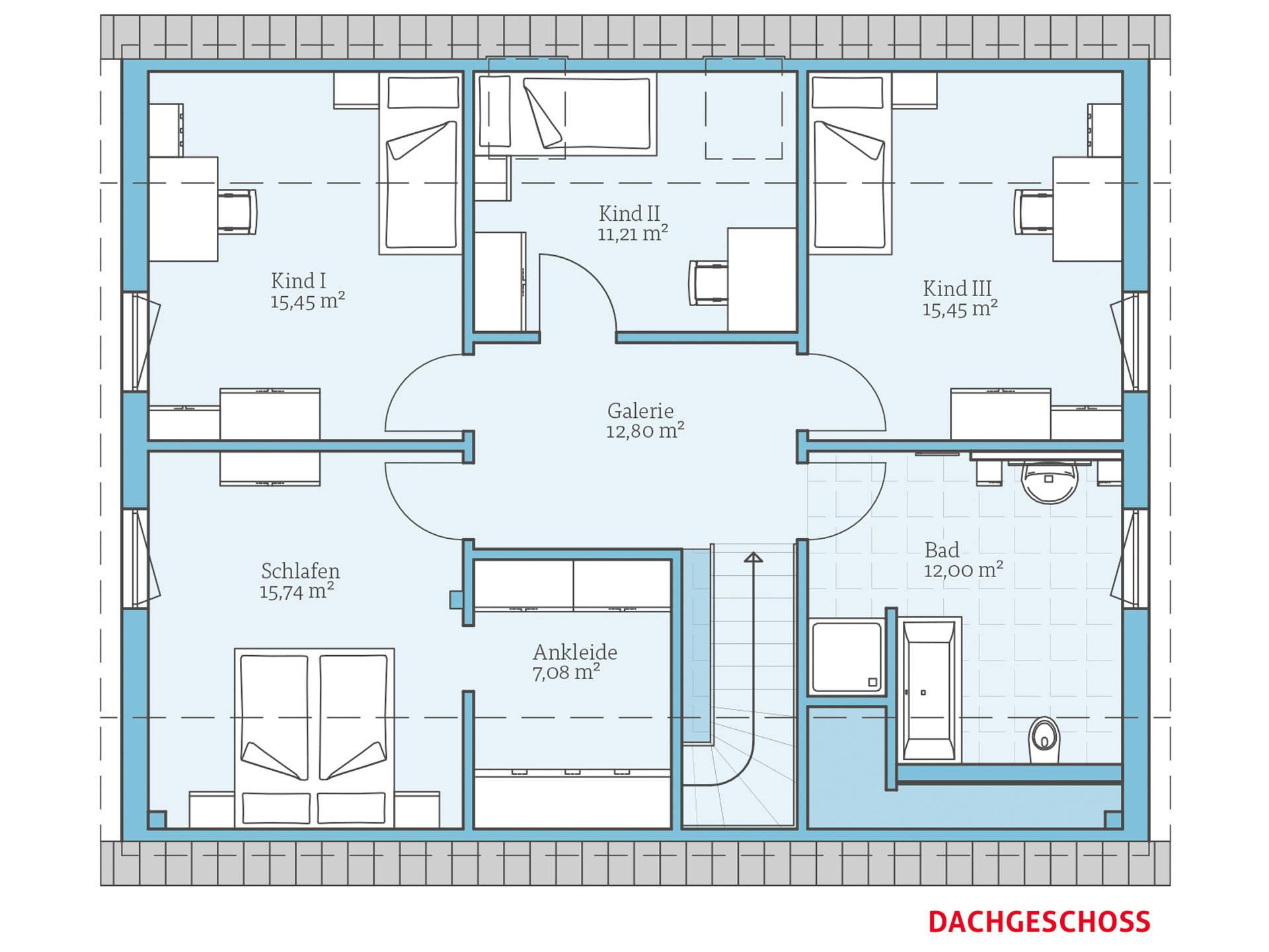 Hanse Haus Variant 35-184 Grundriss OG
