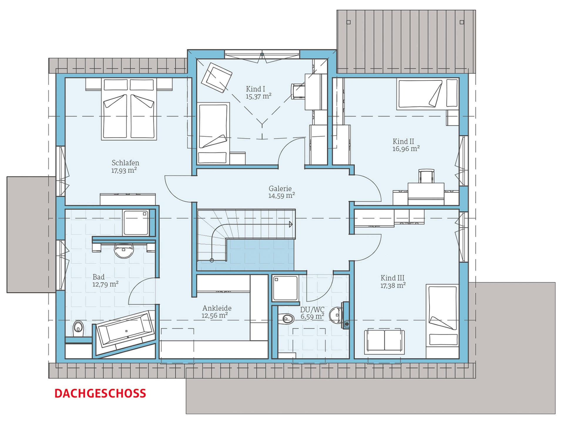Hanse Haus Variant 35-235 Grundriss OG