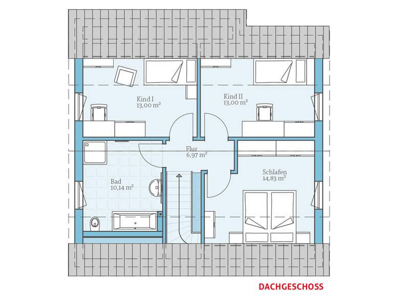 Hanse Haus Variant 45-130 Grundriss OG