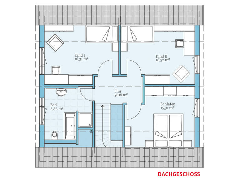 Hanse Haus Variant 45-145 Grundriss OG