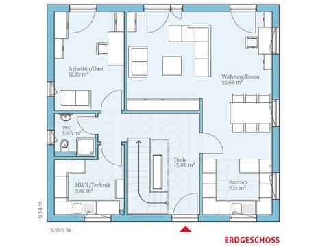 Hanse Haus Variant 45-145 Grundriss EG